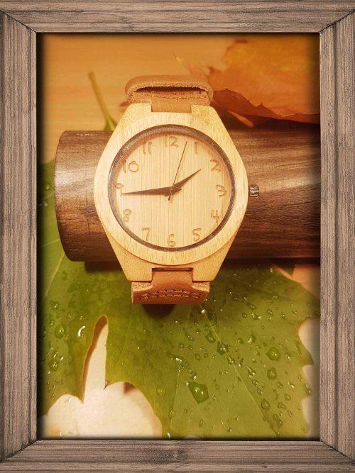 Waldmeister Uhren Holzzahlen eingraviert