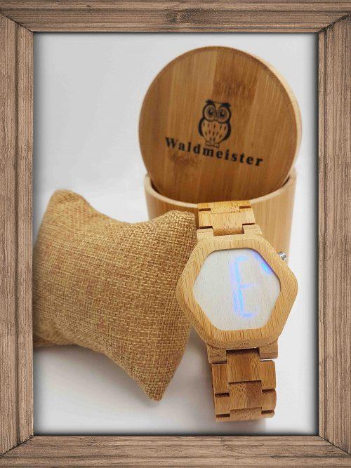 Bambus Uhr Digitale Led Anzeige