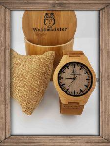 Bambus Holzuhr Waldmeister Shop