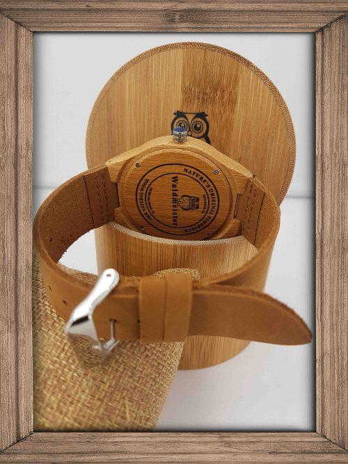 Bambus Holzuhr von Waldmeister - Holzuhren Shop