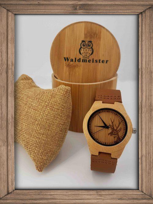 Hirschuhr aus Holz - Holzuhrenshop