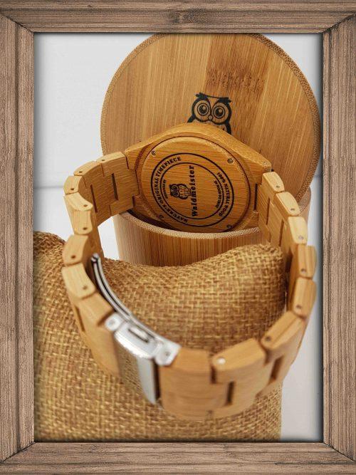 Bambusuhr mit Bambus Armband