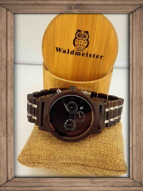 Sandelholz Uhr Chronometer Datum